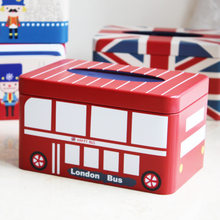 Creative Tissue Box Home Decor England London Bus Wipes Container Desktop Paper Storage Box Tissues Paper Towel Dispenser 6ZJ53(China)