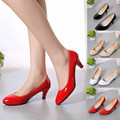Jasmine Nude Shallow Mouth Women Office Work Heels Shoes Elegant Ladies Low Heel Dec8