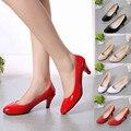 Jazmín Nude Boca baja de Las Mujeres de Trabajo de Oficina Tacones Elegantes Zapatos de Las Señoras de Tacón Bajo Dec8