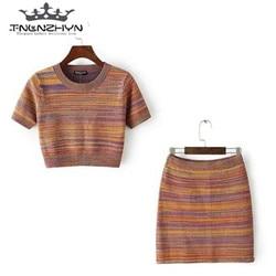 tnlnzhyn 2017 fashion summer 2 piece sets short sleeve crop top and short skirts sets.jpg 250x250