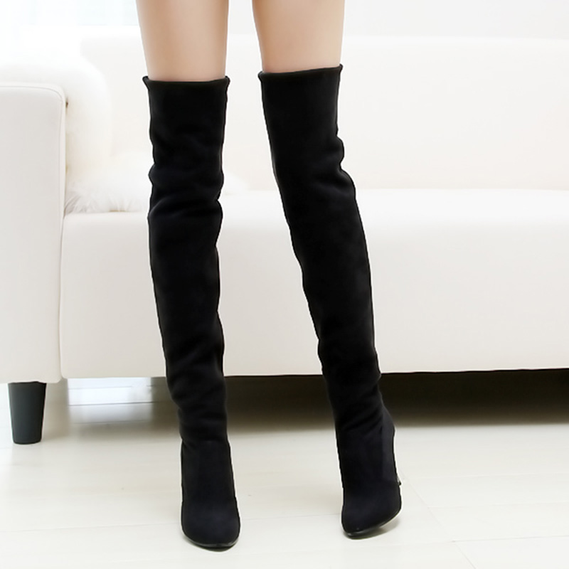 Aliexpress.com : Buy Hot Selling Women Winter Boots Stretch Velvet ...