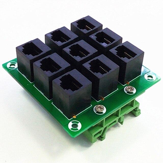 rj45 8p8c jack 9 way buss breakout board terminal block connector rh aliexpress com RJ45 Wiring Diagram PDF RJ45 Wiring Standard