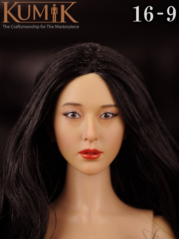 KUMIK 16-9 1:6 Scale female Figure accessories head shape carved for 12 Action figure doll,not include clothes;body and other