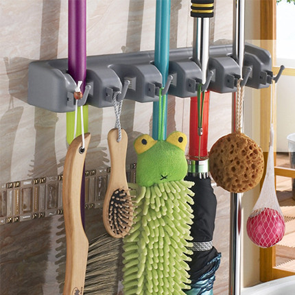 Bathroom Accessories ABS Plastic Mop Racks storage tool holder Wall Mounted storage organizer broom storage holders rack flg bathroom accessories wall mounted tumbler holder cup