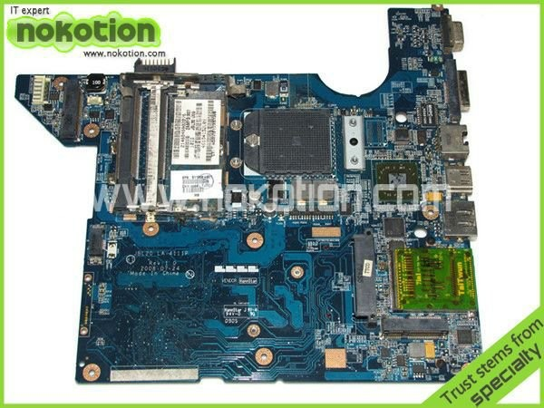 ФОТО 575575-001 NBW20 LA-4117P laptop motherboard for HP DV4 AMD INTEGRATED DDR2 Mainboard send cpu