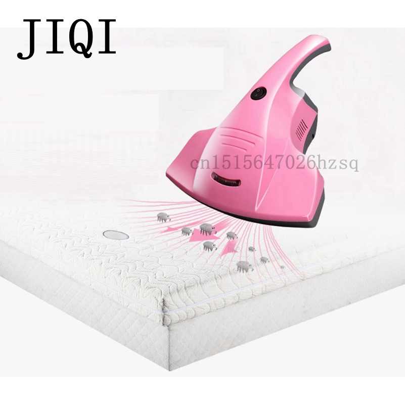 JIQI Household dust Mites Collector Vacuum Cleaner for Home Bed Effectively Removes Dust Mite Bacteria, Viruses jiqi mini vacuum cleaner sweeper household powerful carpet bed mites catcher cyclone dust collector aspirator duster eu us plug