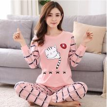 Jimiko autumn winter new pajamas for women cotton fashion cute lounge clothing suit cartoon print girl student casual