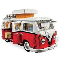 21001 Volkswagen T1 Camper/21003 жук/21002 Cooper строительные блоки кирпичи игрушки Совместимость legoing 10220 10252 10242
