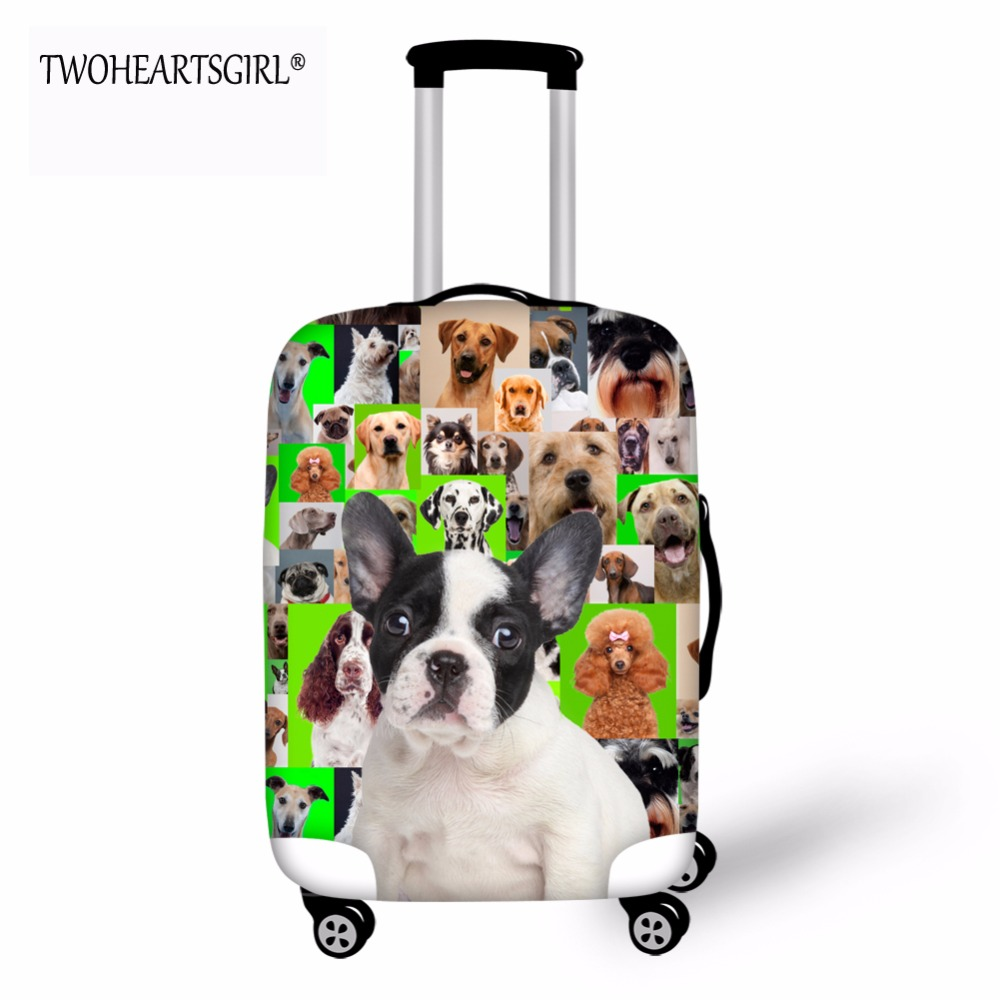 TWOHEARTSGIRL Lovely Pug Pattern Luggage Cover Apply to 20,22,24,26,28 inch Protective T ...
