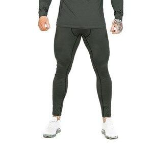 Image 4 - Rajstopy uciskowe męskie długie spodnie spodnie biegaczy spodnie legginsy biegaczy Slim Fit Hombre Skinny Fitness siłownie spodnie treningowe