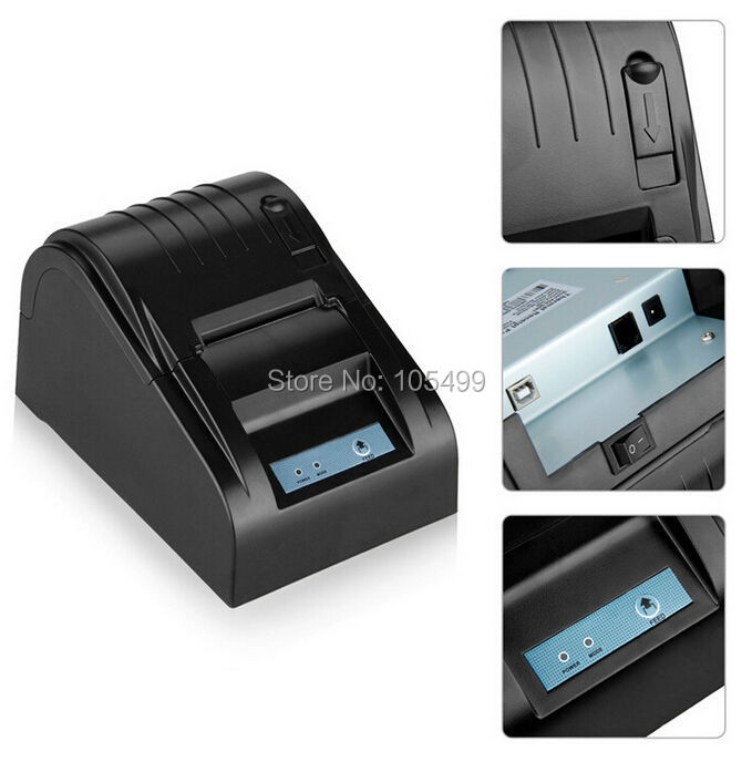 ФОТО New arrival USB interface 58mm pos receipt printer thermal printing with power supply built-in free shipping