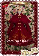 Cotton  Burgundy Embroidery Winter Dress Sweet Lolita