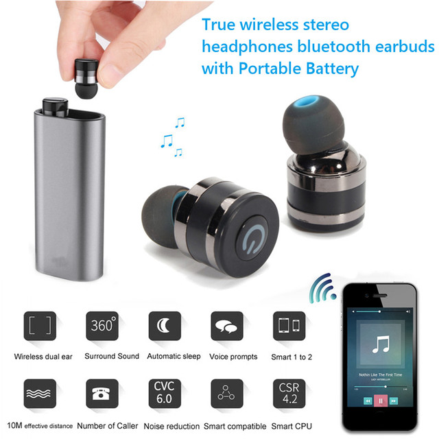 LEORY Invisible Earpiece Music Earphone Bluetooth In-ear Handsfree Mini Wireless Earphones With Microphone For iPhone 8