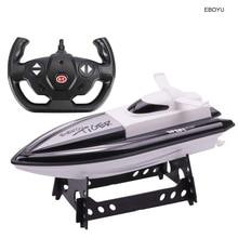 EBOYU 301 высокая скорость RC лодка на дистанционном управлении гоночная лодка 4 канала для бассейнов, озёр и приключений на открытом воздухе(работает только в воде