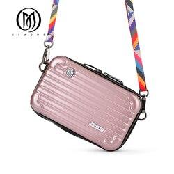 EIMORE роскошная дизайнерская женская сумка модная женская сумка-мессенджер маленькая сумка с клапаном АБС-пластик мини сумка через плечо для...