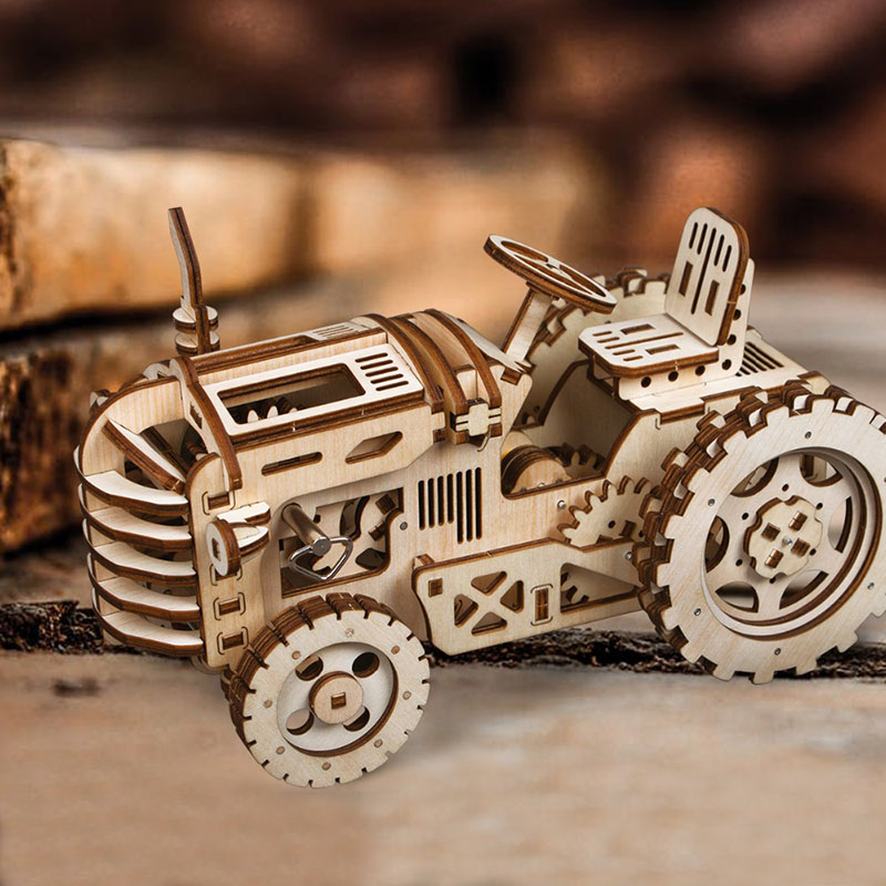Robotime-Creative-DIY-Gear-Drive-Tractor-3D-Wooden-Model-Building-Kits-Toys-Hobbies-Gift-for-Children-(1)
