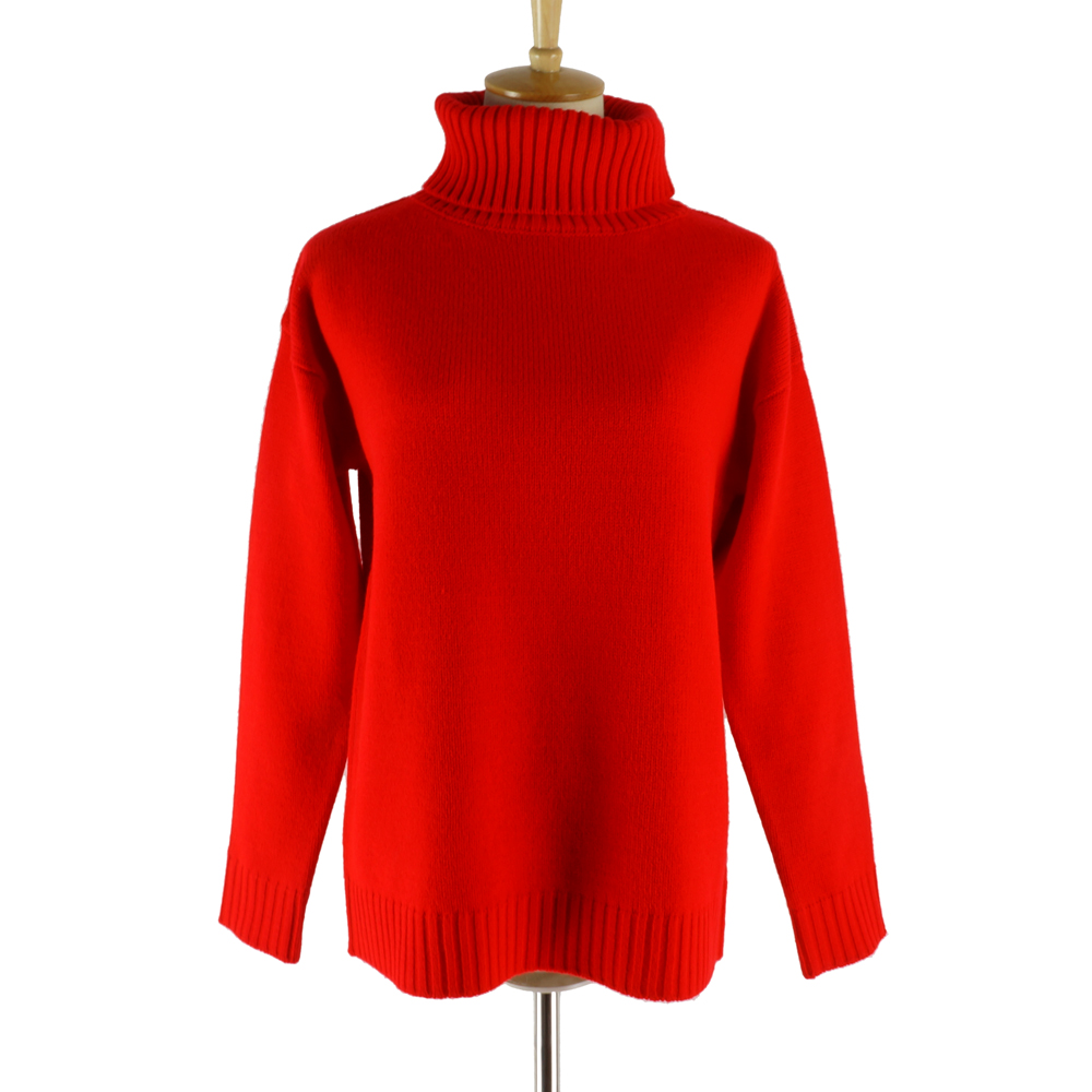 Autumn Winter Turtleneck Long Sleeve Knitted Pullover Women 2018 New Red  Sweater Soft Rib Oversized Jumper in Europe and America-in Pullovers from  Women s ... 48fbde7d9