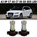 2x H16 5202 PSY24W PS19W LED Bulb Nonpolarity For A3 8P C7 A6 S6 Q5 SQ5 2008+Car Vehicle LED Front Turn Signals DRL BULB