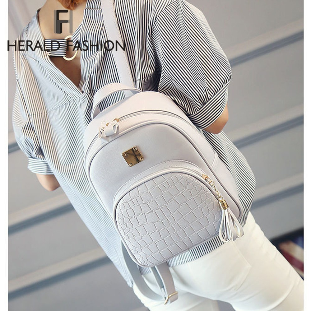 Herald Fashion Women Backpack Casual Female Student Bag with