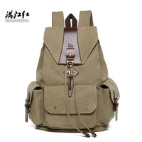 Manjianghong Fashion Vintage Canvas backpack Daily Backpack For Student Bags 1234