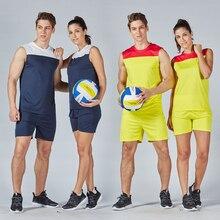 Мужские и женские наборы для волейбола, спортивная одежда для футбола, футбола, волейбола, трикотажные шорты, униформа для тренировок, костюм для бега