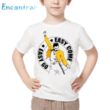 Kids Rock Band Queen Freddie Mercury Print T shirt