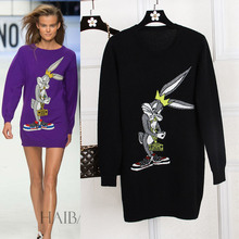 high-end custom Women's sweaters,Fashion mink cashmere sweaters Girls long sweaters round neck pullovers sweaters CG1503