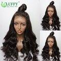 Melhor luffy cabelo 150 densidade virgem malaio encaracolado sem cola cheia do laço perucas Com Cabelo Do Bebê Parte Dianteira Do Laço Perucas de Cabelo Humano Mulheres Negras