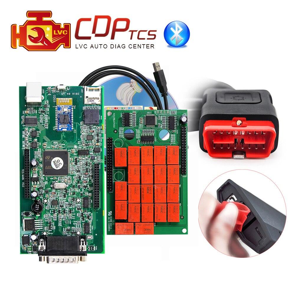 Цена за CDP TCS Pro Plus Bluetooth 2014 R2/2015.3 Keygen в CD OBDII Scan OBD2 автомобили Грузовики Универсальный OBD 2 сканер инструменту диагностики