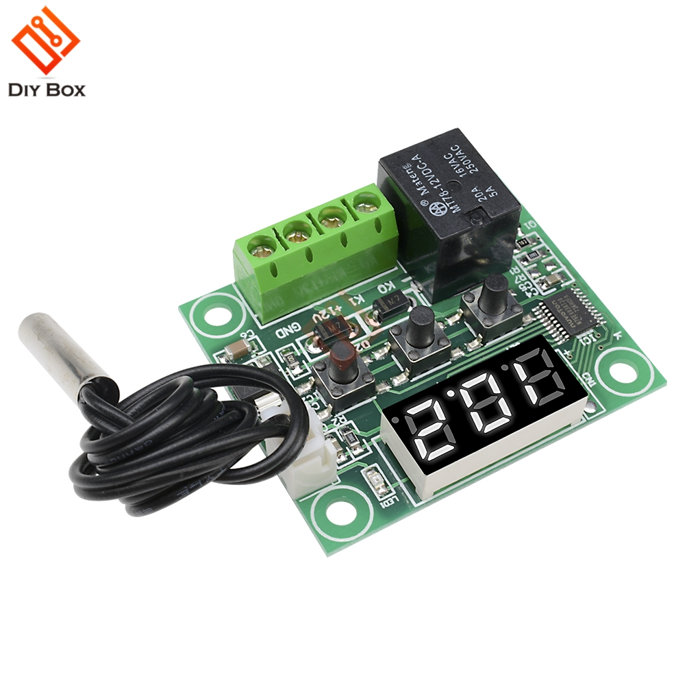 Buy Dc 12v W1209 White Led Digital Thermostat How To Build Temperature Controlled Switch 1 X 50 110c Control Waterproof Sensor