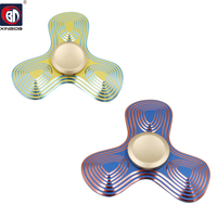 BD Fingertip Gyro Decompression Fidget Spinner Hand Spinner Metal Clover Stripes EDC Tool Anxiety Stress Relief