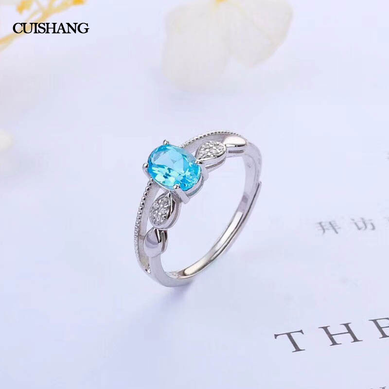 CSJ Blue Topaz Topaz Ring 925 Sterling Silver Engagement rings For Women Wedding Party Gift Fine Jewelry wedding rings 925 sterling silver rings for men blue topaz ring fashion gift jewelry 100