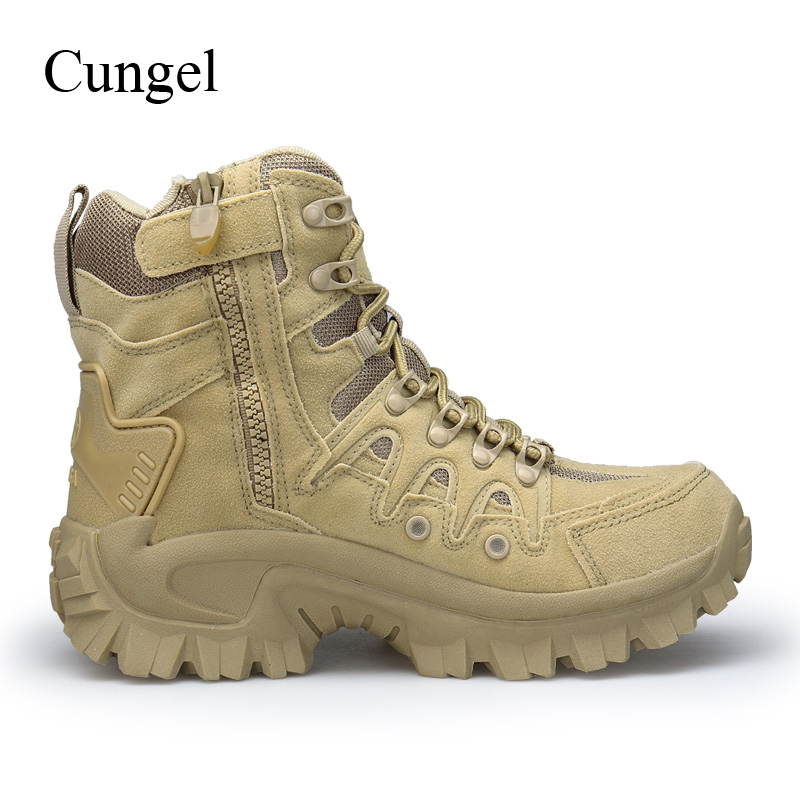 Mens Army Combat Boot Military Tactical Work Desert Boot Outdoor Climbing Shoes