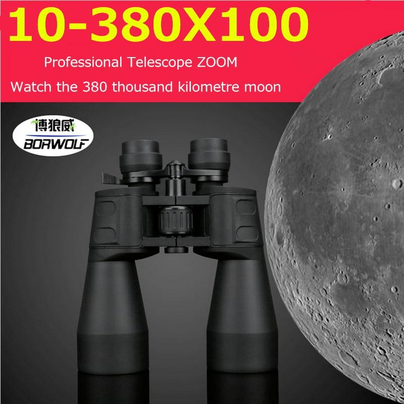 10-380X100 Professional Telescope Long Range Zoom Hunting Binoculars High Definition Camp Hiking Night Vision Telescope цена и фото