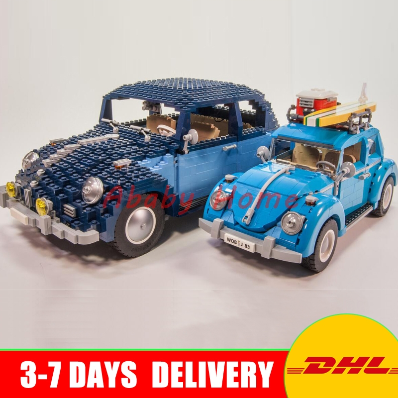 In Stock Lepin 21003 City Car Beetle+ 21014 The Ultimate Beetle Model Building Kits Set Block Bricks Set Toys Clone 10252 10187 in stock new lepin 22001 pirate ship imperial warships model building kits block briks toys gift 1717pcs clone 10210