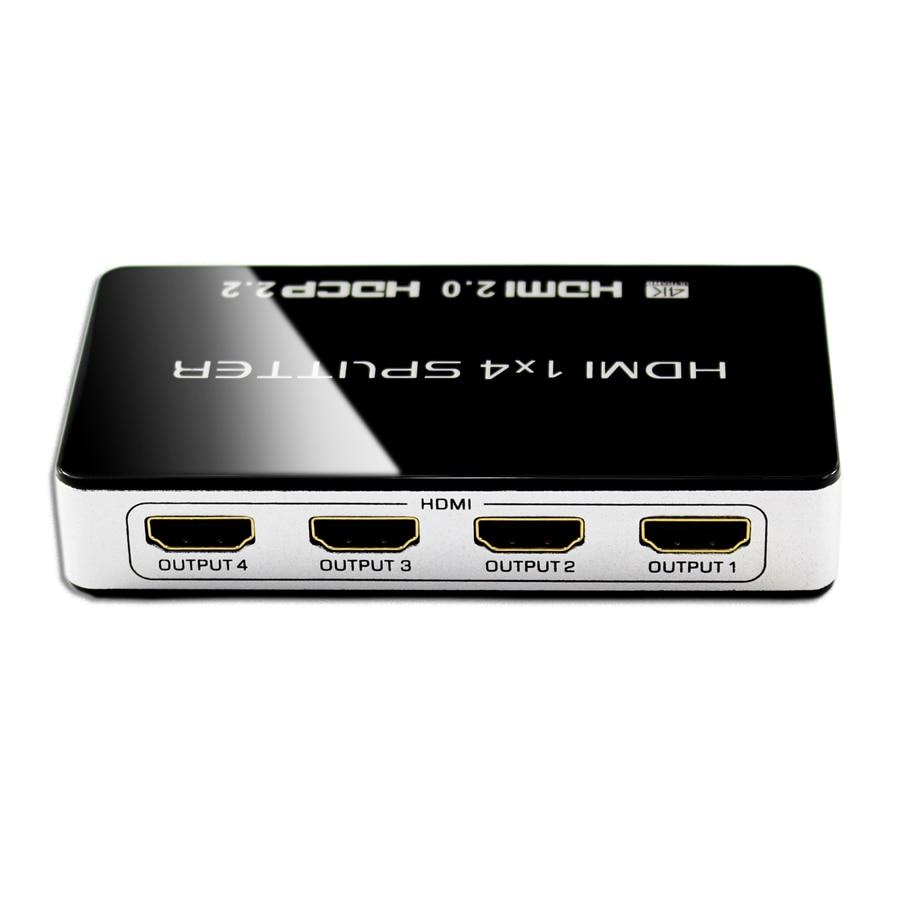 2019 HDMI 2.0 Splitter UHD 4K 1x4 HDCP 2.2 3D 1 Input 4 Output Repeater Switch Box Hub 1080p 4kx2k For Blu-ray DVD HDTV