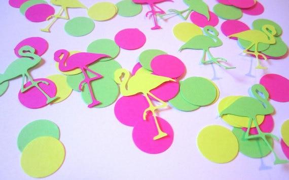 Flamingo Confetti Flamingo Party Neon ConfettiNeon Party Decor