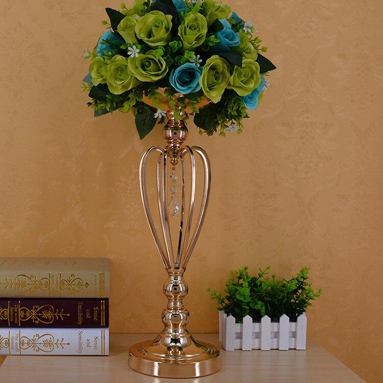 10 шт./лот металлические золотые подсвечники дорога приведет Таблица Центральным стоять столб подсвечник для свадьбы канделябры цветы вазы