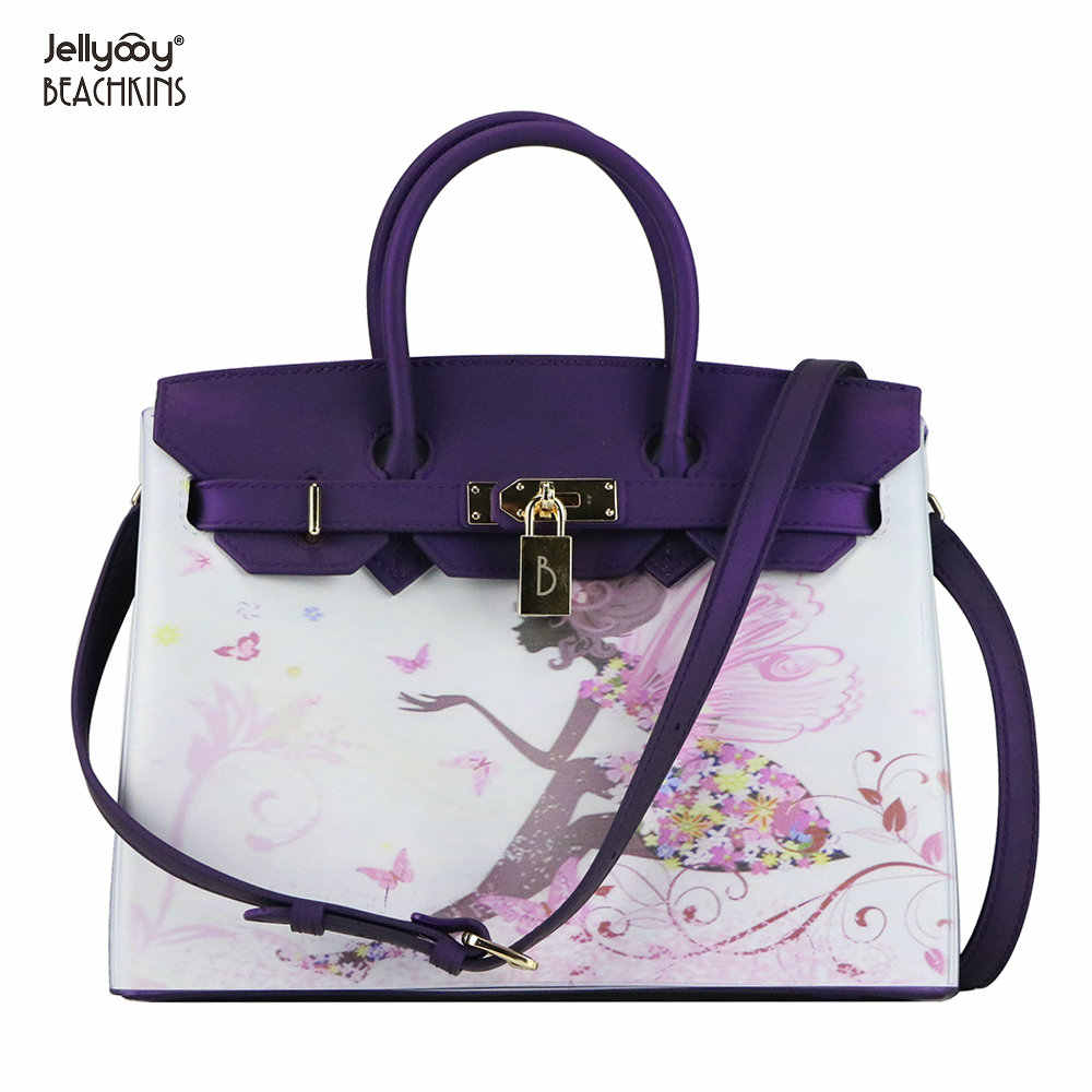 f935a4c7719c0 Detail Feedback Questions about Jellyooy Beachkins Women's Padlock Flap  Luxury Classic Handbags Matte Jelly Bags Floral Girls 3D Printing Pattern  Handbag on ...