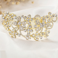 Women Crystal Rhinestone Hair Combs Gold Plated Party Date Nightclubs Wedding Hair Accessories Jewelry Pageant Hair Combs