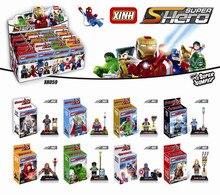 Minifigure Black Widow Hulk Thor Super Hero XINH 059-066 8pcs/lot Figures Building Blocks Sets Model Bricks Toys