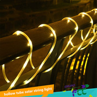 Hot sale 10M 100 LED Soft Tube Copper Wire Solar String Strip Light Waterproof Christmas Party Wedding Garden Decor Lamp