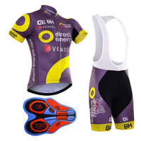 2017 Summer Racing Cycling Jersey Ropa Ciclismo Purple Cycling Clothing Bike Pro Sport Wear Gel Breathable