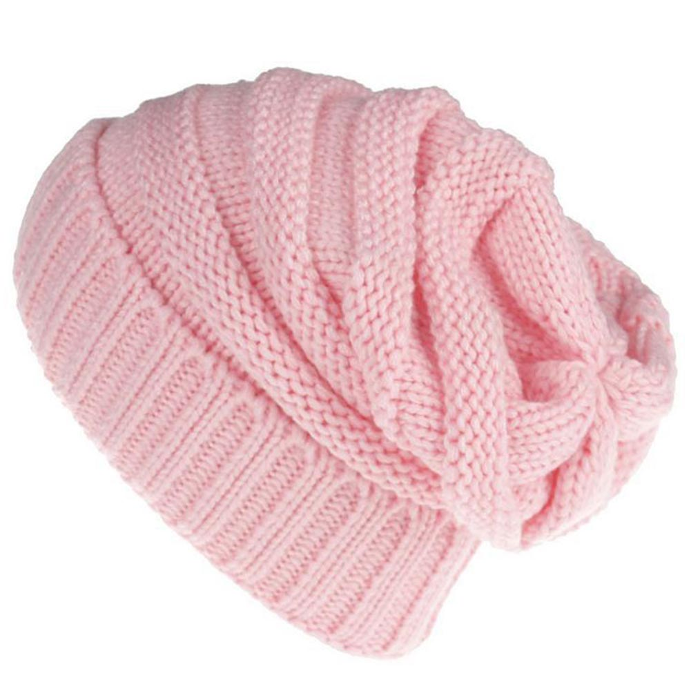 Fashion Autumn Winter Women Knitting Wool Hat Keep Warm Beanies Solid Color Knitted Cap Ladies Girls Crochet Hats LB