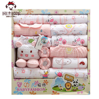 18pcs Set Cotton Newborn Baby Girl Winter Clothes Autumn Baby Boy Clothing Set Cartoon Gift 0
