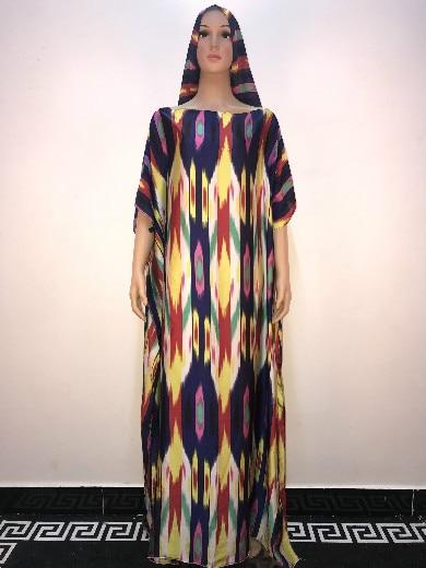 Aliexpress Hot Sale Beautiful Silk Printed Abaya Muslim -1830