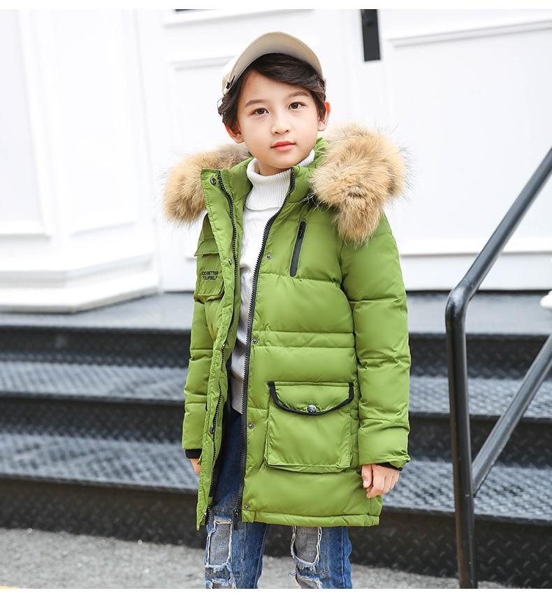 цена ZOETOPKID Children Boys Winter Down Jacket 3-12 Years Kid Outerwear Coat For Girl Manteau Enfant Garcon Hiver Winterjas Jongen