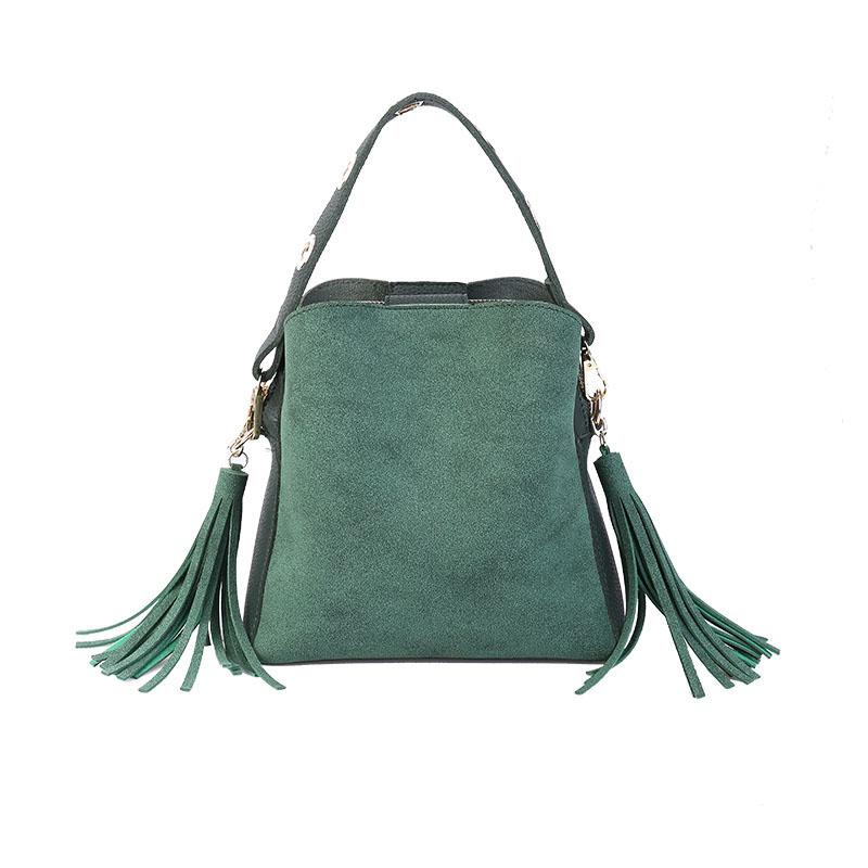 MARFUNY Brand Tassel Shoulder Bags Handbags Women Scrub Daily Bag For Girls Schoolbag Female Crossbody Bags New Bucket Sac 4