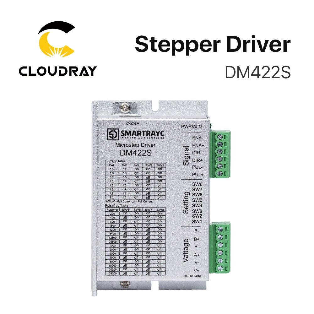 Cloudray 2 фазы Драйвер шагового двигателя DM422S напряжение питания 18-48VDC выход 0,3-2.2A ток
