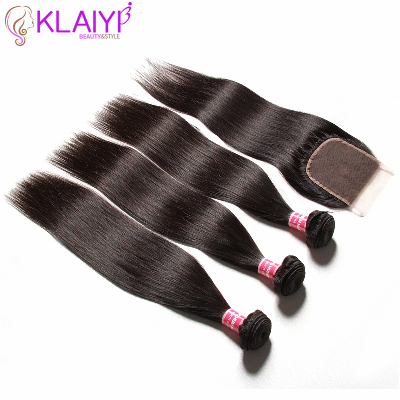 Image 3 - KLAIYI HAIR Malaysian Straight Hair Bundles With Closure 100% Human Hair Extension 3 Bundles With Closure Remy Hair FreeShipping-in 3/4 Bundles with Closure from Hair Extensions & Wigs